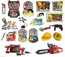 Kids DIY Tools Box Set Toy Drill Chainsaw Helmet Mask + Many Accessories Variety