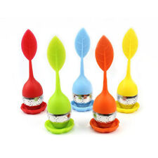 Tea Strainer Herbal Spice Infuser Tea Filter Food-grade Silicone Stainless Steel