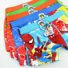 4PCS Boys Kids Boxer Shorts Spiderman Boxers Briefs Cotton Pants Underwear 3-10Y