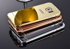 Aluminum Metal Bumper With PC-Mirror Back Cover For SAMSUNG GALAXY J7 2016
