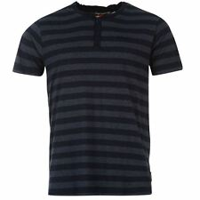 T-shirt LEE COOPER Yarn Dye Granddad NEUF / TShirt V-Neck Striped Mens NEW