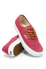 VANS AUTHENTIC SLIM WASHED CANVAS PERSIAN RED WOMENS CANVAS SHOES