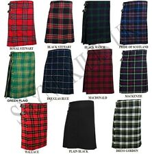 5 Yard Men's Scottish Kilts Tartan Kilt 13oz Highland Casual Kilt Various Tartan