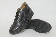 Scarpa Casual Uomo Nera Pelle Stringata MADE IN ITALY  SALENTO