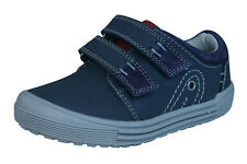 Hush Puppies Issac Boys Leather Trainers / Shoes - Navy Blue