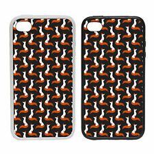 Elegant Fox Pattern |Rubber and Plastic Phone Cover Case| Surface  Abstract