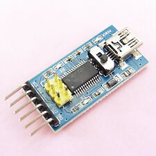 Mini USB to TTL FTDI FT232RL Serial Converter Adapter Module RS232 Arduino
