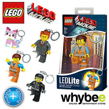 New! Official LEGO Movie Minifigure Characters Keyring Keylights Keychains