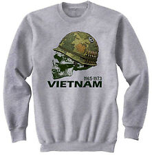 USA VIETNAM WAR HELMET -  NEW COTTON SWEATSHIRT- S-M-L-XL-XXL
