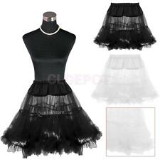 Vintage Rock Roll Net Skirt Petticoat Underskirt Fancy Tutu Costume Wedding Prom