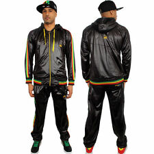 chile shiny wet look glanz  sexy  rasta jamaica sport Pants cal surf  Track suit