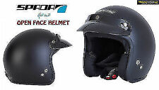 NEW SPADA MOTORCYCLE SCOOTER CITY TOURING OPEN FACE ROAD HELMET MATT BLACK