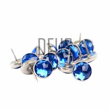 Headboards Sofa Chair Blue Diamante crystal upholstery buttons 20mm loop back