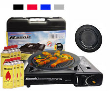 Gas Stove Camping Cooker Portable+Suitcase + Butane Gas kar apply mascara+