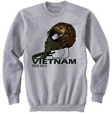 USA AIR FORCE VIETNAM WAR HELMET -  NEW GRAPHIC SWEATSHIRT- S-M-L-XL-XXL