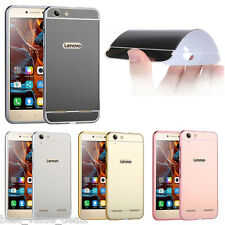 Aluminum Metal Bumper With PC-Mirror Back Cover For Lenovo k5 plus k5+