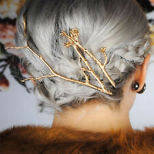 Celebrity Metal Tree Branch Hairpins Gold Silver Hair Clips for Women Bobby Pins
