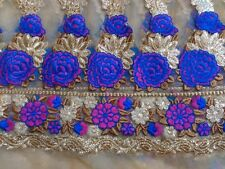 Flower Embroidery Net Fabric for Lehenga Kurti Saree Dress Bridal Party Wear