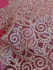 Embroidery Net Fabric for Lehenga Kurti Saree Dress Bridal Party Wear