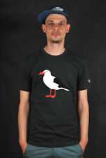CLEPTOMANICX GULL HEATHER BLACK T-SHIRT CREWNECK TEE