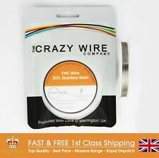 0.28mm (29 AWG) - 317L Grade Stainless Steel Wire - TMC Wire - 10M, 25M OR 50M