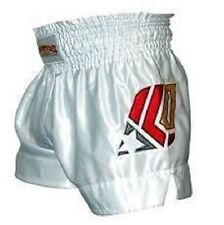 Fighters Only MUAY THAI FIGHT SHORTS Men's Fight Apparel WHITE