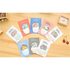 Garden Flowers Cute Novelty Sticky Notes Memo Notepad Sticker Marker