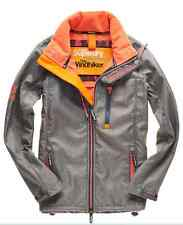 Neue Damen Superdry Windtrekker Jacke Grey Marl