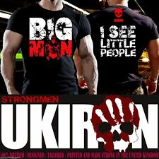 UKIRON *BIG MAN* Gym BODYBUILDING T-Shirt Strong Man STRONGMAN Top *BFPO WELCOME