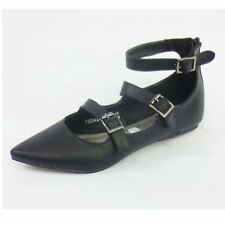 Ladies Spot On Casual Flat Ballerina Buckle Shoes The Style-F80043