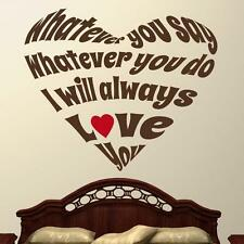 I Will Always Love You - Wall Decal Quote Sticker lounge kitchen dining room hal