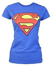 Official Superman Distressed Logo Women's T-Shirt
