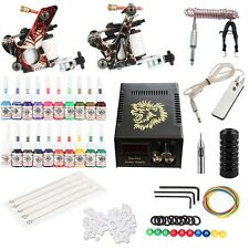 Profi Komplett Tattoomaschine Set Tattoo Maschine Gun Tattoozubehoer Needel Ink