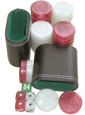 Backgammon accessories set. 30 LARGE checkers, dice, cube, 2 cups. FREE p&p UK