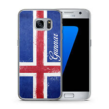 Samsung Galaxy Hülle Cover Case Island Iceland + Name selbst gestalten Individue