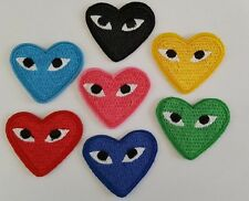COMME DES GARCONS PATCH Embroidered Iron on CDG PLAY Japan Love Heart All Colors