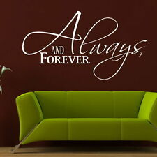 Always & Forever Love Quote Transfer Home Vinyl Romantic Wall Quote DAQ20
