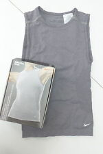 Nike Women's Pro Vent Vest Top  Grey  TIGHT SLEEVELESS VEST  Great Price!