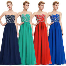 GK Strapless Chiffon Ball Gown Maxi Evening Prom Party Dress Sweetheart