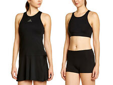 Adidas AdiZero Dress Tennis Dress Black Womens Squash Set with underwear