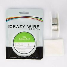 0.1mm x 1mm Flat/Ribbon Wire - 316L Marine Grade Stainless Steel Wire