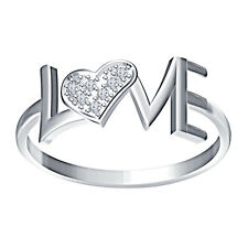 Elegant Love Heart Ring 925 Pure Silver With Real Diamond Valentine's Special