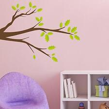 Adesiviamo Green Leaves Branch Ramo con Foglie Verdi Wall Sticker Adesivo da