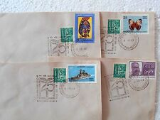 4 Special Covers SET - 1982 Silver Jubilee of NATIONAL BOOK TRUST india - se06