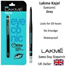 LAKME EYECONIC KAJAL PENCIL EYELINER -Waterproof, No Smudge, Safe - 0.35g- Grey