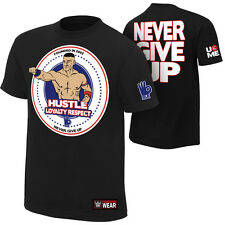 "WWE Wrestling John Cena ""Hustle Loyalty Respect"" Auth. Shirt SOFORT LIEFERBAR"