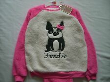 PRIMARK Schlafanzug Pyjama Love to Lounge Frenchie pink NEU 34 36 S / 38 40 M