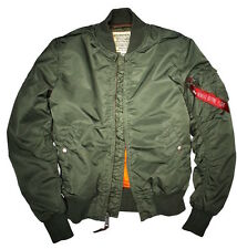 "Alpha Industries Hombre Chaqueta de aviador ""MA-1 VF 59 Larga"" Flight PILOTO"