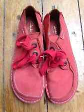 Clarkes Coral Pink Shoes - Size 7