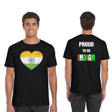 Dil Hai Hindustani Mens T-shirt with Back Print, Indian T-shirt for Men